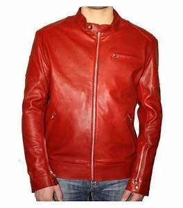 Veste En Cuir Rouge Homme : blouson homme cuir rouge blouson homme rouge noir slim cuir pu pas cher soldes ~ Melissatoandfro.com Idées de Décoration