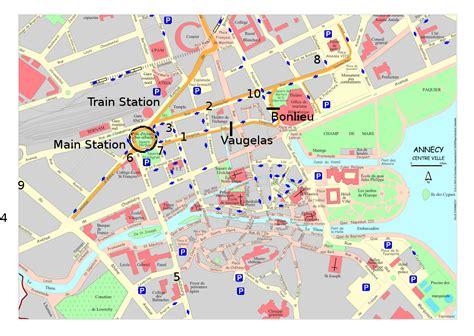 Carte De La Ville by Annecy Plan Du Centre Ville Voyages Cartes