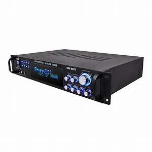 Amazon Com  Pyle P1001at 1000w Hybrid Pre Amplifier With Am  Fm Tuner  Musical Instruments