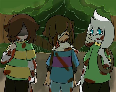 chara frisk and asriel the walking dead by mythi mil on deviantart