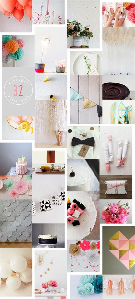 32 Creative Birthday Party Ideas • A Subtle Revelry
