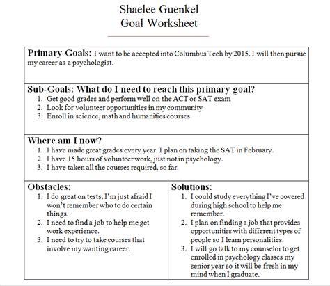 Future Goals In Resume by Goals Shaelee S Career Portfolio