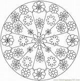 Kaleidoscope Coloring Pages Printable Mandalas 2lrg Mandala Pattern Flower Books Sheets Simple Colouring Patterns Adult Coloringpages101 Designs Pdf Printables Primavera sketch template