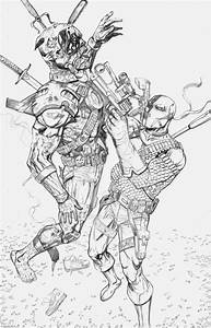 Deathstroke Vs Deadpool Coloring Pages - Coloring Home