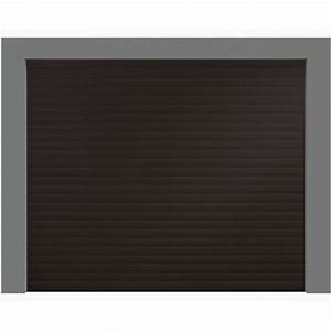 porte de garage enroulable aluminium 240 x 200 marron ral With porte de garage enroulable et porte intérieure 90 cm