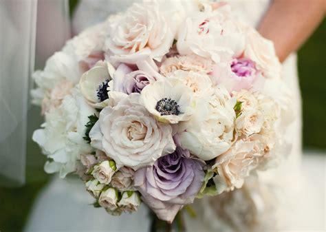 romantic summer wedding bouquet  roses peonies