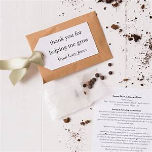 Personalised Seed Packet Thank You Teacher Gift By Twenty