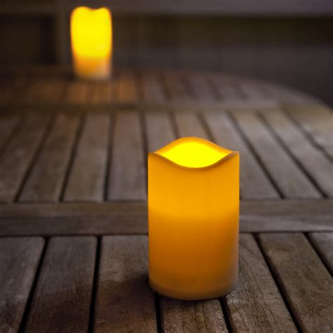 small outdoor battery led candle with timer lights4fun co uk