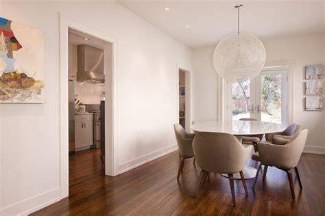 glamorous baseboard trim  austin contemporary dining