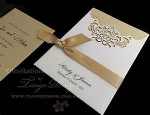 elegant laser cut pocket invitations by wwwtangodesign With wedding invitation pockets australia
