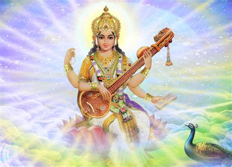 Animated Goddess Saraswati Wallpaper - hindu bhakti wallpapers wallpapers
