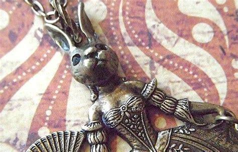 Steampunk Necklace Rabbit Girl Rabbit Necklace Gothic