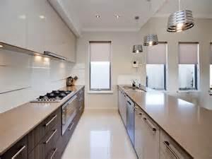 corridor style kitchen