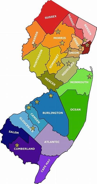 Bergen Jersey County Map Nj Clipart Clip