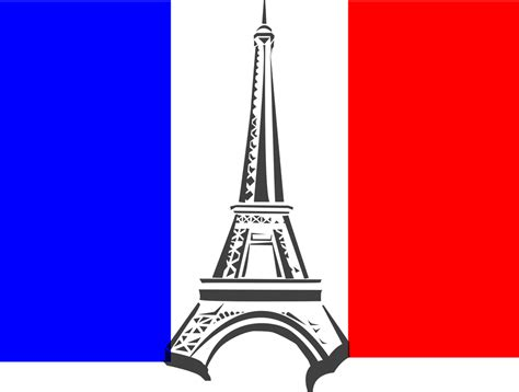 eiffel tower france flag  vector graphic  pixabay