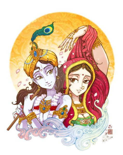 lord krishna  radha   sine  deviantart