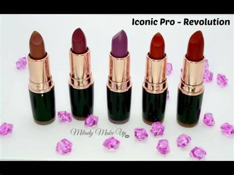 labiales iconic pro makeup revolution swatches youtube