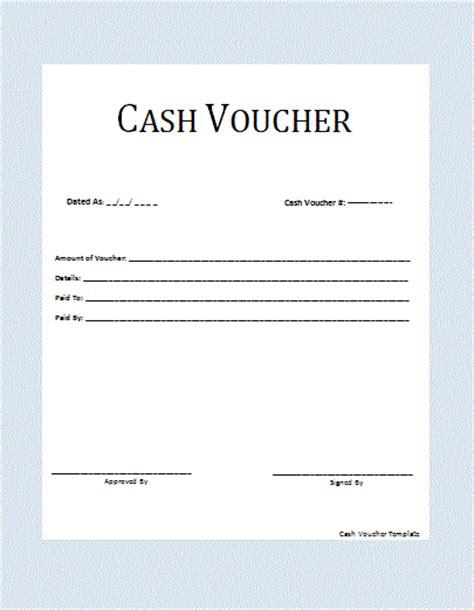 cash voucher template  printable word templates