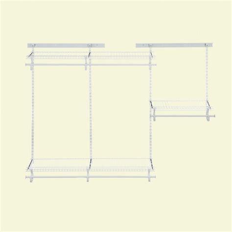 Closetmaid Parts List - closetmaid shelftrack 4 ft 6 ft closet organizer kit