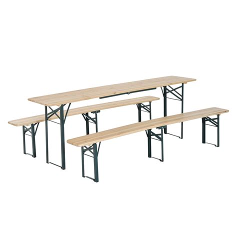 folding table with bench outsunny folding picnic table bench set cing garden bbq
