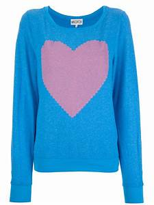 Lyst - Wildfox Heart Sweater in Blue
