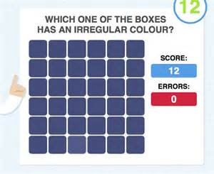 Color Vision Test with Squares