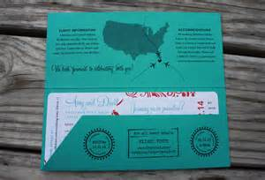 boarding pass save the date turquoise coral swirls palm trees boarding pass