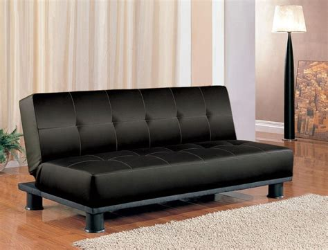 black leather sofa futon futon sleeper sofa bed vinyl leather finish ebay