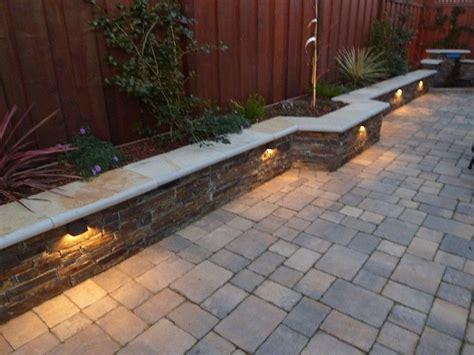 sweet walkway patio with wall backyard ideas front