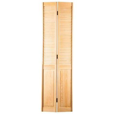 louvered doors home depot interior smooth half louver unfinished pine interior bi fold closet door 96119 at the home depot