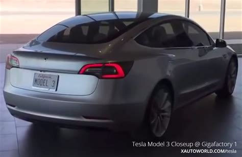 tesla model  exterior closeup video  gigafactory   auto