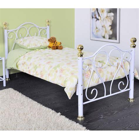 lit blanc 90x190 cm en m 233 tal fer forg 233 st tropez 90x190cm avec matelas et sommier