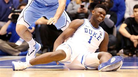 duke loses zion williamson  mild knee sprain  shoe