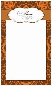 8 best images of printable thanksgiving menu blank for Menu borders template