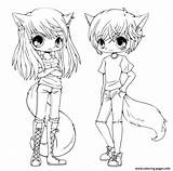 Coloring Anime Twins Printable sketch template