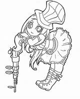 Coloring Pages Chibi Caitlyn Legends League Lineart Lol Draw Drawings Colouring Printable Sheets Line Sketches Halloween Games Fan sketch template