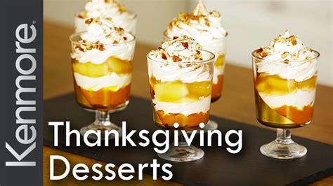 easy thanksgiving dessert recipes and fall treat ideas kenmore