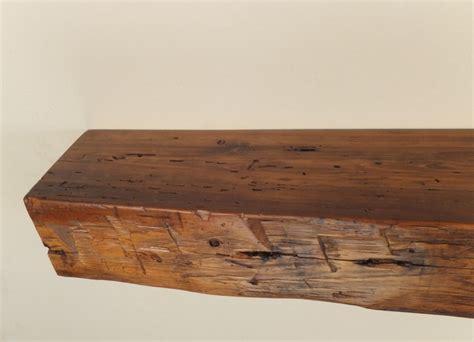 fireplace mantels 978 48 quot x 6 25 quot d x 5 quot h reclaimed floating wood shelf