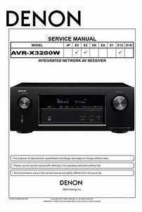 Denon Avr V Receiver Service Manual And Repair