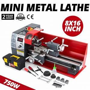 750w 8 U0026quot X16 U0026quot  210 Processing Mini Metal Lathe Digital