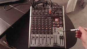 My Mixer Setup  The Behringer Xenyx X1204 Usb With Fx