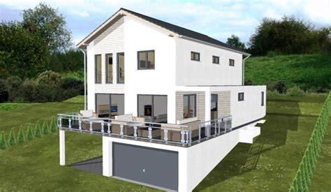 Stadtvilla Mit Garage Im Keller by Planungsbeisiel Einfamilienhaus Garage Im Keller