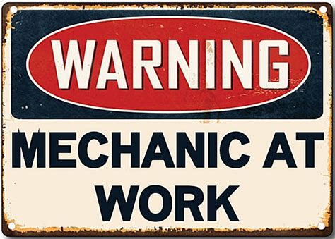 Warning Mechanic At Work Metal Sign 200mm X 140mm 2f. Background Image Hd Green Banners. Tin Signs. Birthday Party Signs Of Stroke. Transparent Background Banners. History American Murals. Tension Headache Signs. Online Shopping Discount Codes. Supernatural Logo