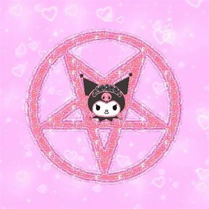 Aesthetic Creepy Anime Pink Kitty Goth Hello