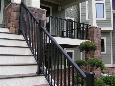 Porch Handrails by Black White Railing