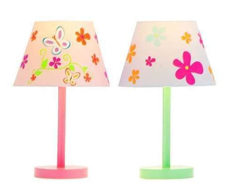 Lamp Set In Pink & Green Flower & Butterfly Lovely Girl's