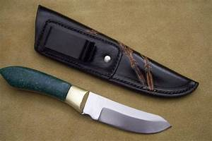 Custom Leather Knife Sheath  U2013 5 U2033 Fixed Blades  U2013 Metal Belt