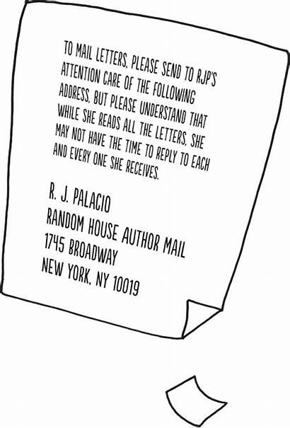 Letter Wonder Author Palacio Sb Books