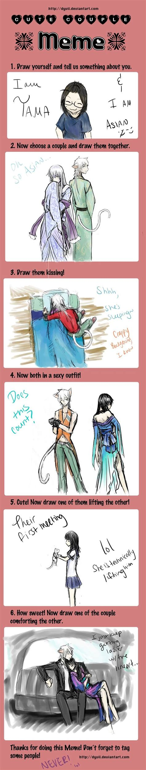 Cute Couple Meme - cute couple meme sayaxkiyoshi by tamakichi on deviantart