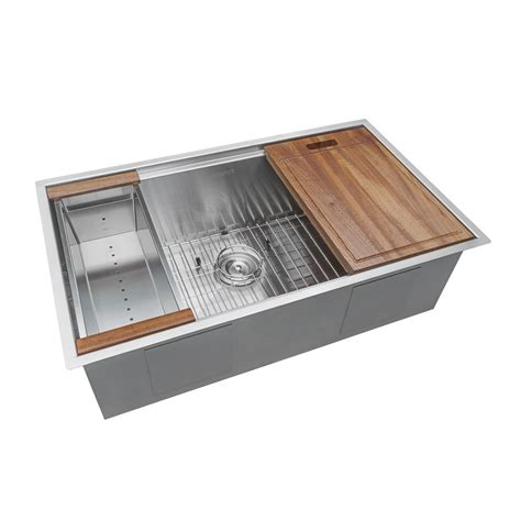single kitchen sink accessories ruvati 32 in single bowl undermount 16 stainless